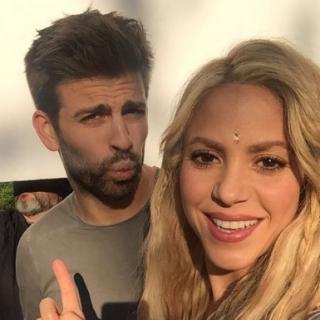 Shakira y Piqué / Foto Shakira Instagram