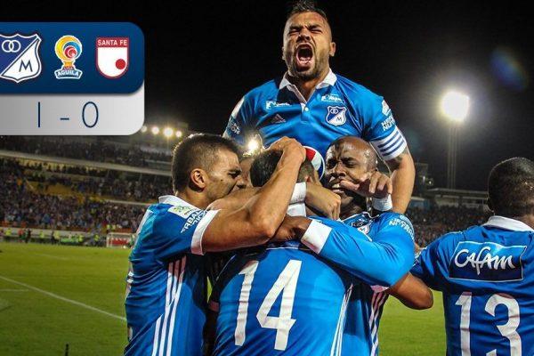 Millonarios saca ventaja contra Santa Fe / Foto: Millonarios.