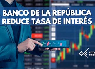 Banco de la República reduce tasa de interés
