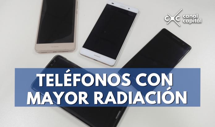 radiación teléfonos
