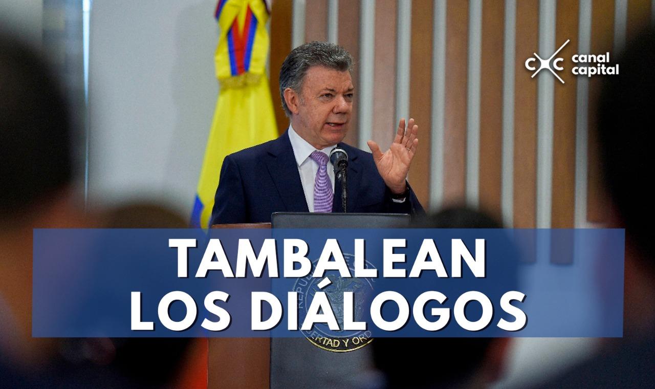 Reanudar los diálogos con el Eln va a ser imposible: Santos