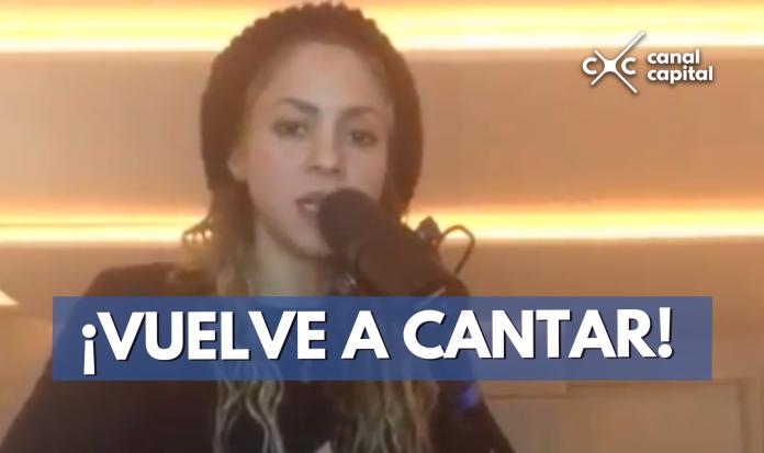 Shakira vuelve a cantar