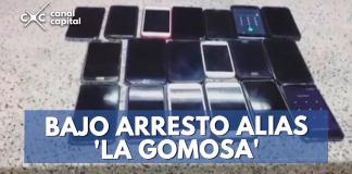 la mujer capturada por hurto de celulares tenía 38 años