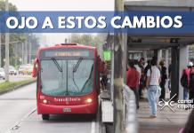 cierres viales en algunas estaciones de TransMilenio