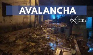Avalancha deja un desaparecido y varios heridos