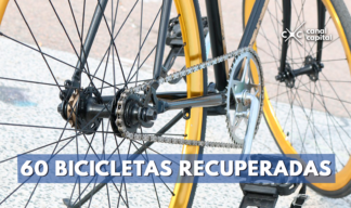 Policía recupera 60 bicicletas hurtadas