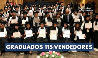 Gradúan a 115 vendedores informales