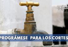 Cortes de agua en 100 barrios de Bogotá