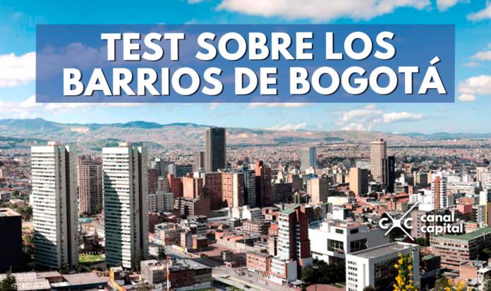 quiz sobre barrios de Bogotá
