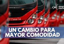 bancas en TransMilenio