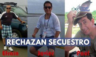 rechazo a secuestro de periodistas en Ecuador