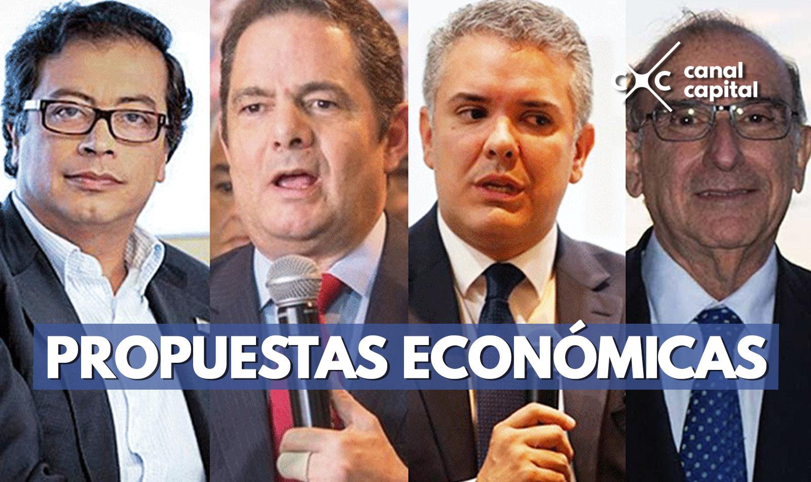 Candidatos presidenciales difieren en propuestas económicas para el país
