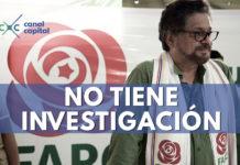 Fiscalía dice que sobre Iván Márquez no existe investigación