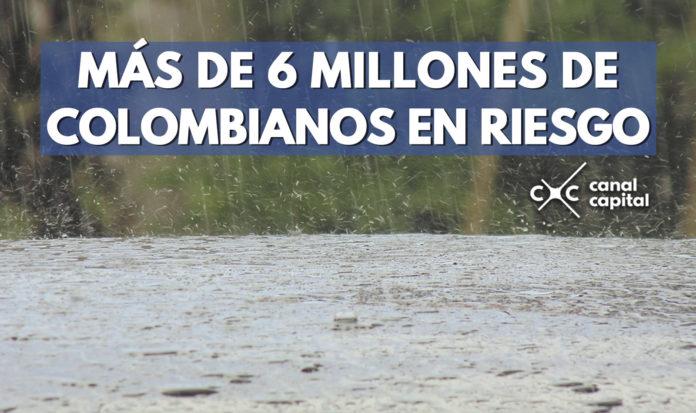 más de seis millones de colombianos en riesgo por deslizamiento