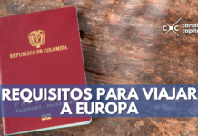 requisitos para viajar a Europa