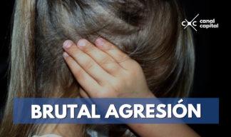 brutal agresión a niña en Bogotá