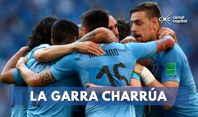 Celebración gol Uruguay