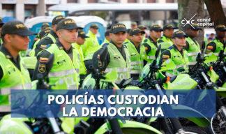 Policías elecciones Presidenciales Colombia 2018