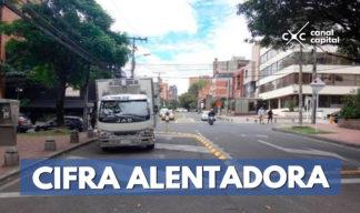 se redujo a cero los accidentes viales en Bogotá