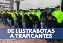 policia bogotá captura a traficantes
