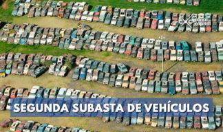 subasta de vehículos irás hasta el próximo 10 de agosto