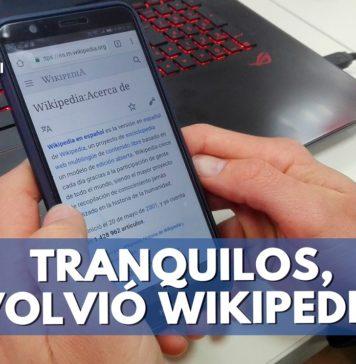 Wikipedia regresó