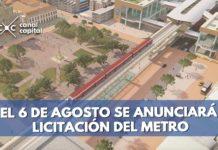licitación del metro de Bogotá iniciará el 6 de agosto