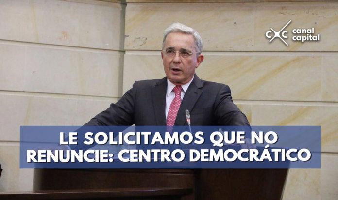 centro democratico habla sobre renuncia de Uribe