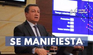 ernesto macias se pronuncia por caso Uribe