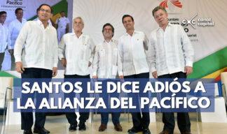 santos se despide de la alianza del pacífico