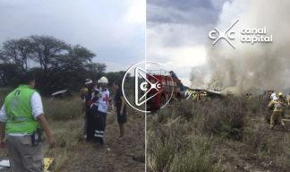 Video del momento en que se desploma el avión en Durango, México