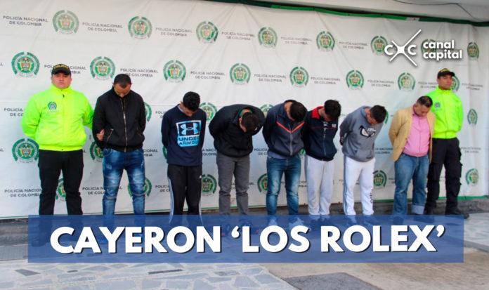 Contundente golpe a la banda de 'Los Rolex'