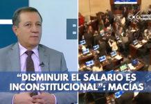 Ernesto Macía habla sobre disminuir salarios