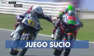 Expulsan piloto de motociclismo por mala conducta en carrera