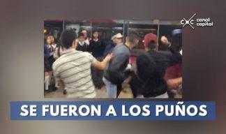 estudiantes se pelean en transmilenio