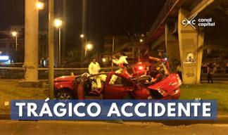 trágico accidente en el norte de Bogotá
