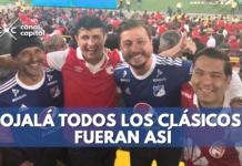Hinchas de Santa Fe y Millonarios protagonizan conmovedora historia de tolerancia en El Campín