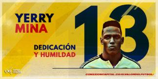 Yerry Mina, el único colombiano nominado al equipo ideal del año FIFA-FIFPro