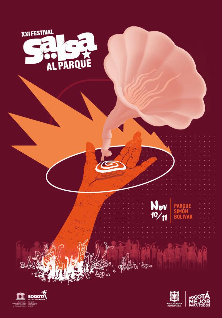 Afiche oficial de Salsa al Parque 2018