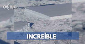 Nasa encuentra iceberg rectangular