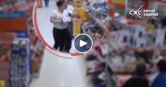 robaban en supermercados