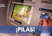 Recomendaciones para no ser víctima de robo en cajeros automáticos