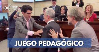 juego pedagógico entre senadores
