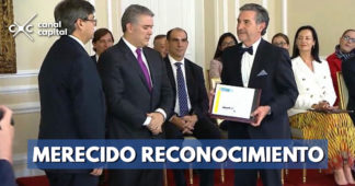 Reconocimiento a la UMV por el uso ecológico del grano caucho en las calles de Bogotá