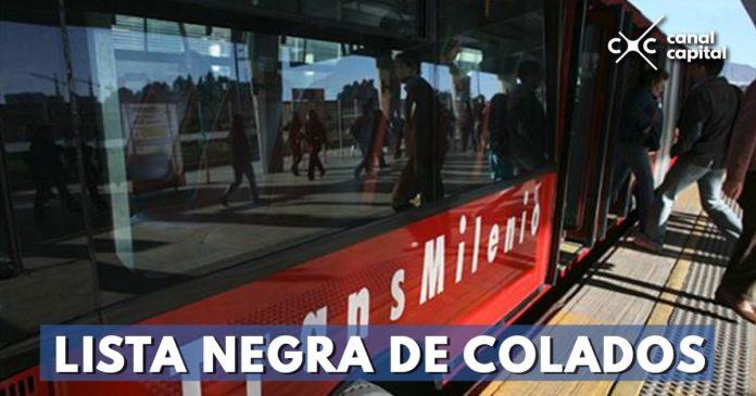 Lista de colados en TransMilenio