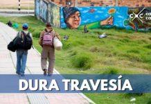 Duro camino de venezolanos a Colombia