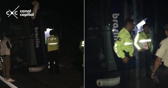 Accidente bus que viajaba de Bogotá a Lima