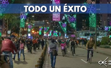 Más de tres millones de personas disfrutaron de la Ciclovía Nocturna Navideña