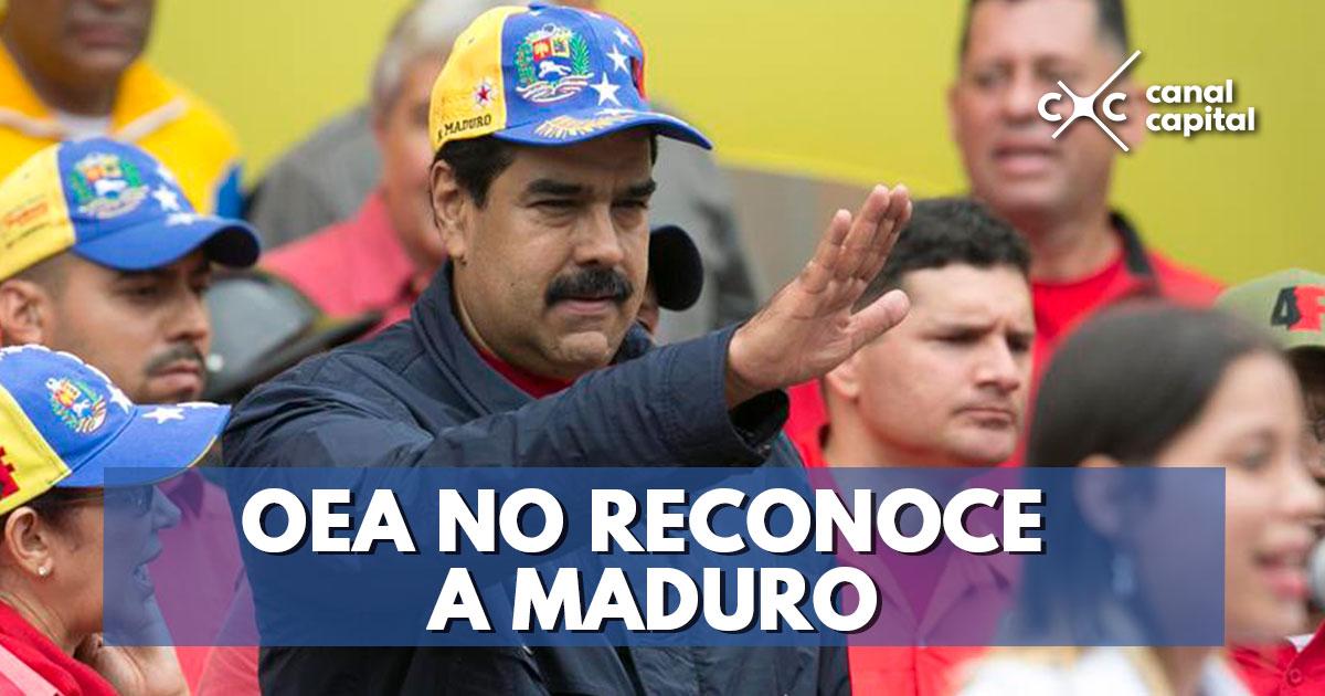 Resultado de imagen para OEA no reconoce gobierno de Nicolás Maduro