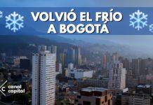 frío en Bogotá